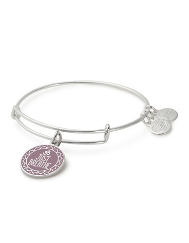 Alex And Ani Just Breathe Charm Bangle-SILVER-One Size