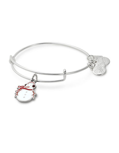 Alex And Ani Snowman Charm Bangle-SILVER-One Size