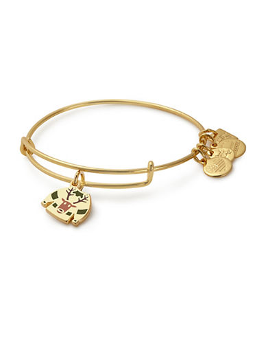 Alex And Ani Ugly Sweater Charm Bangle-GOLD-One Size