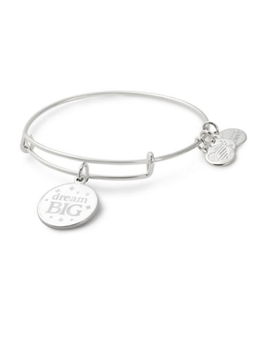 Alex And Ani Dream Big Charm Bangle-SILVER-One Size