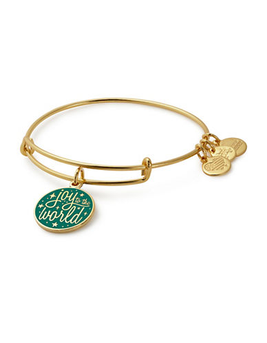 Alex And Ani Joy to the World Charm Bangle-GOLD-One Size