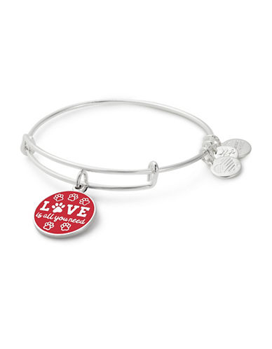 Alex And Ani Love is All You Need Charm Bangle-SILVER-One Size