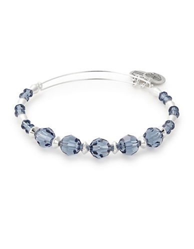 Alex And Ani Swarovski Crystals Chill Beaded Bangle-SILVER-One Size