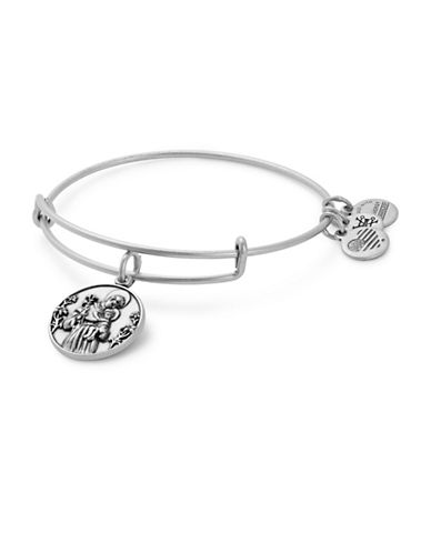 Alex And Ani St. Anthony Charm Bangle-SILVER-One Size