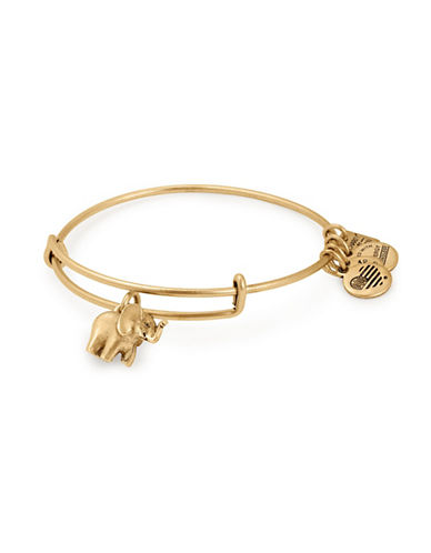 Alex And Ani The Elephant Charm Bangle-GOLD-One Size