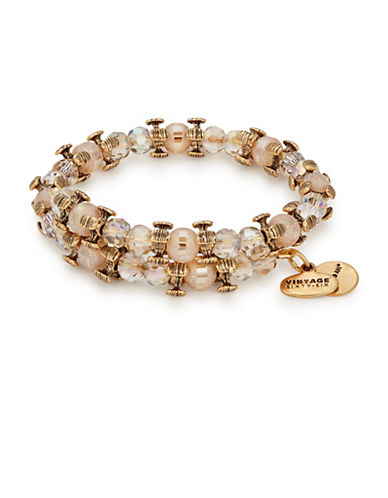 Alex And Ani Honey Splendor Wrap Bracelet-GOLD-One Size