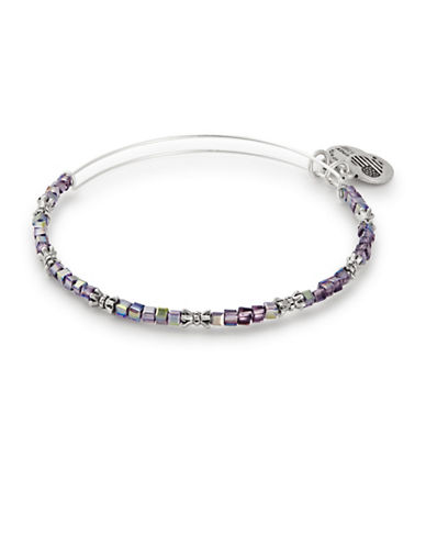 Alex And Ani Twilight Celestial Beaded Bangle-PURPLE-One Size