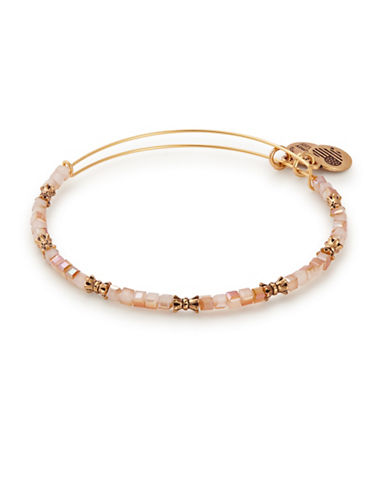 Alex And Ani Honey Celestial Beaded Bangle-ORANGE-One Size