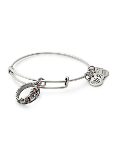 Alex And Ani Queens Crown Swarovski Charm Bangle-SILVER-One Size