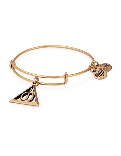 Alex And Ani Harry Potter Deathly Hallows Charm Bangle-GOLD-One Size