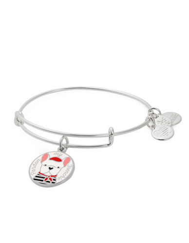 Alex And Ani Pardon My Frenchie Bangle Bracelet-SILVER-One Size