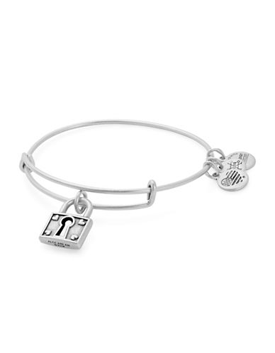 Alex And Ani Unbreakable Love Charm Bangle Bracelet-SILVER-One Size