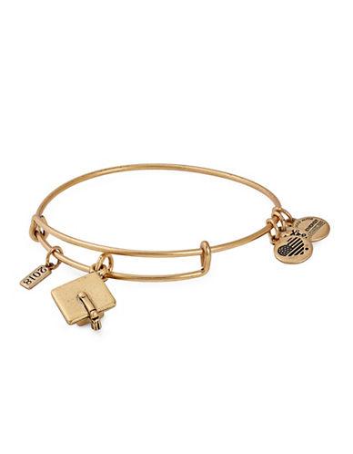 Alex And Ani Achievement 2018 Graduation Cap Charm Bangle Bracelet-GOLD-One Size