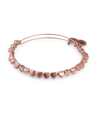 Alex And Ani Heart Beaded Bangle Bracelet-ROSE GOLD-One Size
