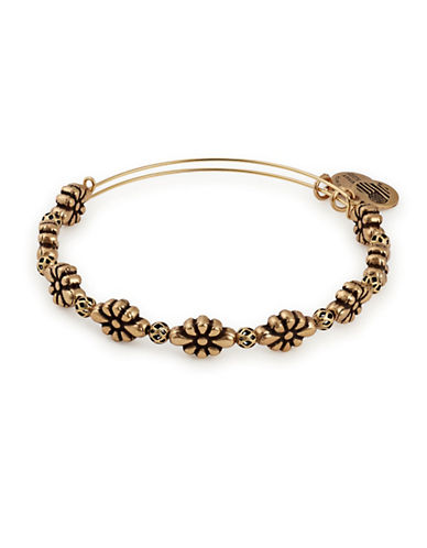Alex And Ani Blossom Beaded Bangle Bracelet-GOLD-One Size