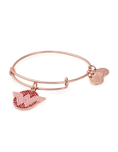 Alex And Ani Wonder Woman Colour Infusion Charm Bangle-ROSE GOLD-One Size