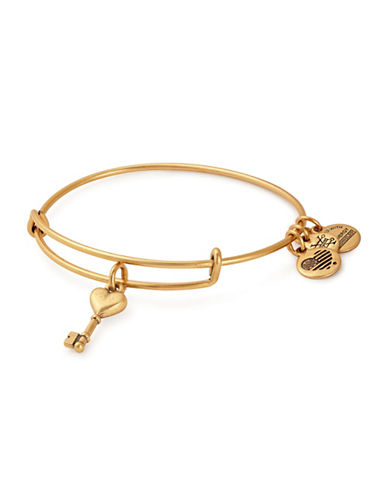 Alex And Ani Key to Love Charm Bangle Bracelet-GOLD-One Size