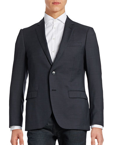 Black Brown 1826 Jack Slim Fit Wool Traveller Suit Jacket-BLUE PINSTRIPE-38 Regular
