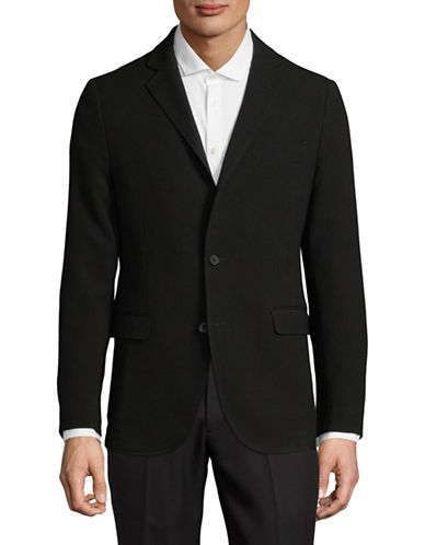 Black Brown 1826 Javin Two-Button Blazer-BLACK-X-Large