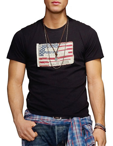 Denim & Supply Ralph Lauren Solid Flag Tee-BLACK-Small 86288373_BLACK_Small