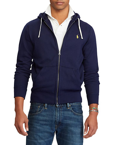 Polo Ralph Lauren Big and Tall Classic Fleece Full-Zip Hoodie-CRUISE NAVY-4X Tall