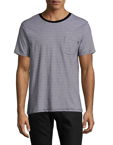 Obey Wisemaker Striped Pocket T-Shirt-GREY-X-Large