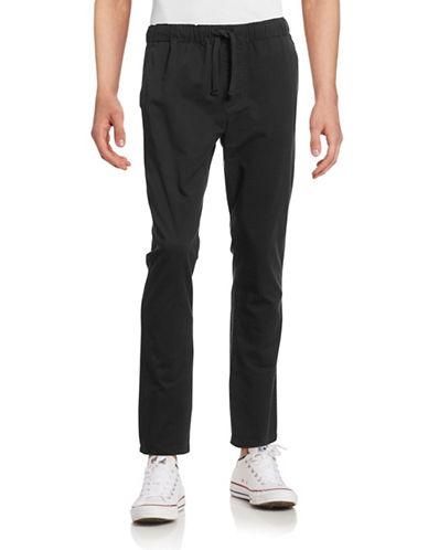 Obey Traveler Slub Twill Drawstring Pants-BLACK-Small 88588739_BLACK_Small