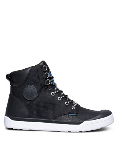 Palladium Pallarue Hi Cuff Waterproof Sneakers-BLACK-9