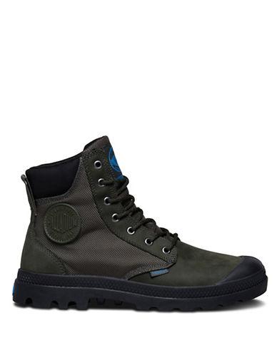 Palladium Lace-Up Boots-GREEN-10.5