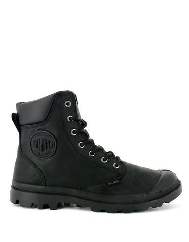 Palladium Lace-Up Leather Boots-BLACK-9