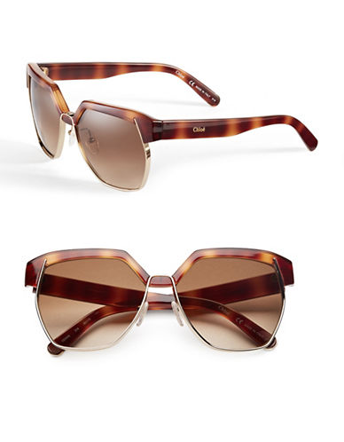 Chloé CE665S Dafne Sunglasses-LIGHT HAVANA-One Size