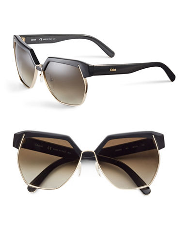 Chloé CE665S Dafne Sunglasses-MATTE BLACK-One Size