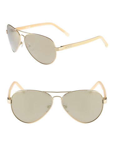 Lacoste L163S Aviator Sunglasses-LIGHT GOLD-One Size