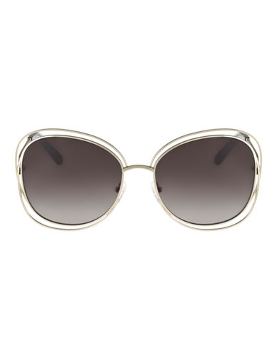 Chloé Round Shape Carlina Sunglasses CE119S-GOLD GREY-One Size