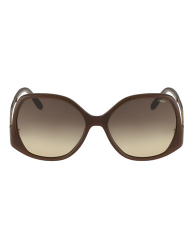 Chloé CE675S Emilia Sunglasses-LIGHT BROWN-One Size