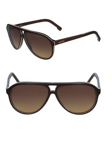 Lacoste L41S Aviator Sunglasses-BROWN-One Size