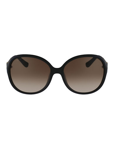 Ferragamo Round Shape Sunglasses SF764SL-BLACK-One Size