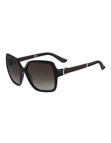 Ferragamo Square Shape Sunglasses SF765SL-BLACK-One Size