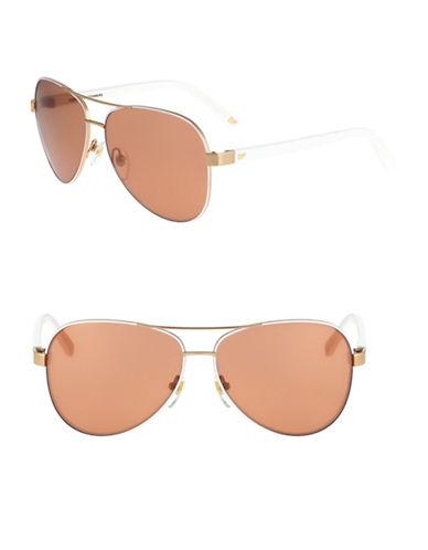ac1e6625660 886895223874. Diane Von Furstenberg 59mm Aviator Sunglasses-NATUAL-One Size