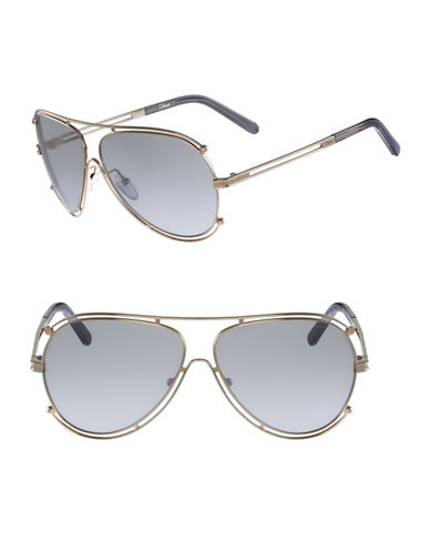 Chloé CE121S Isidora Sunglasses-GOLD/GREY-One Size