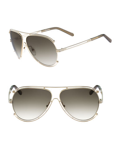 Chloé CE121S Isidora Sunglasses-GOLD / BROWN-One Size