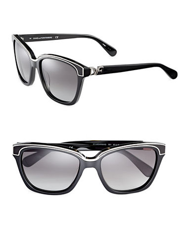 Diane Von Furstenberg Kylie 57mm Square Sunglasses-BLACK-One Size