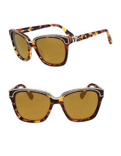 Diane Von Furstenberg Kylie 57mm Square Sunglasses-TOKYO TORTOISE-One Size