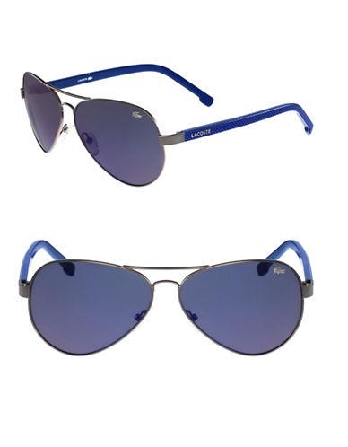 Lacoste L163S Aviator Sunglasses-BLUE-One Size