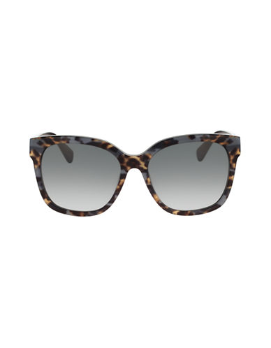 Diane Von Furstenberg Oversized Animal Print Sunglasses-BLACK ANIMAL-One Size