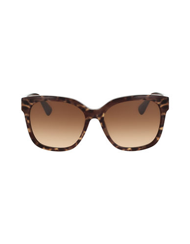 Diane Von Furstenberg Oversized Animal Print Sunglasses-BROWN ANIMAL-One Size