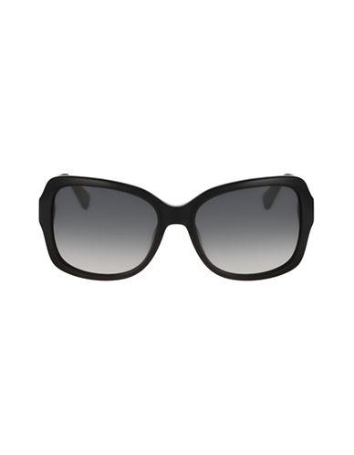 Diane Von Furstenberg Tallyanne Square Sunglasses-BLACK-One Size