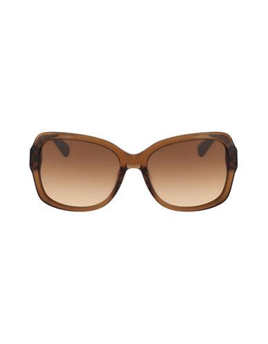 Diane Von Furstenberg Tallyanne Square Sunglasses-CRYSTAL BROWN-One Size