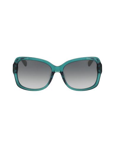 Diane Von Furstenberg Tallyanne Square Sunglasses-CRYSTAL AQUA-One Size
