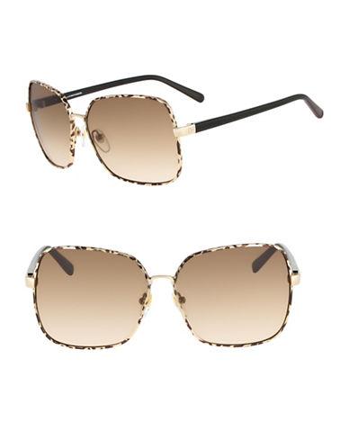 Diane Von Furstenberg Alanna 60mm Square Sunglasses-TORTOISE-One Size